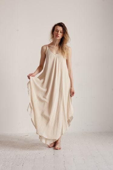 летящее летнее платье слоновая кость