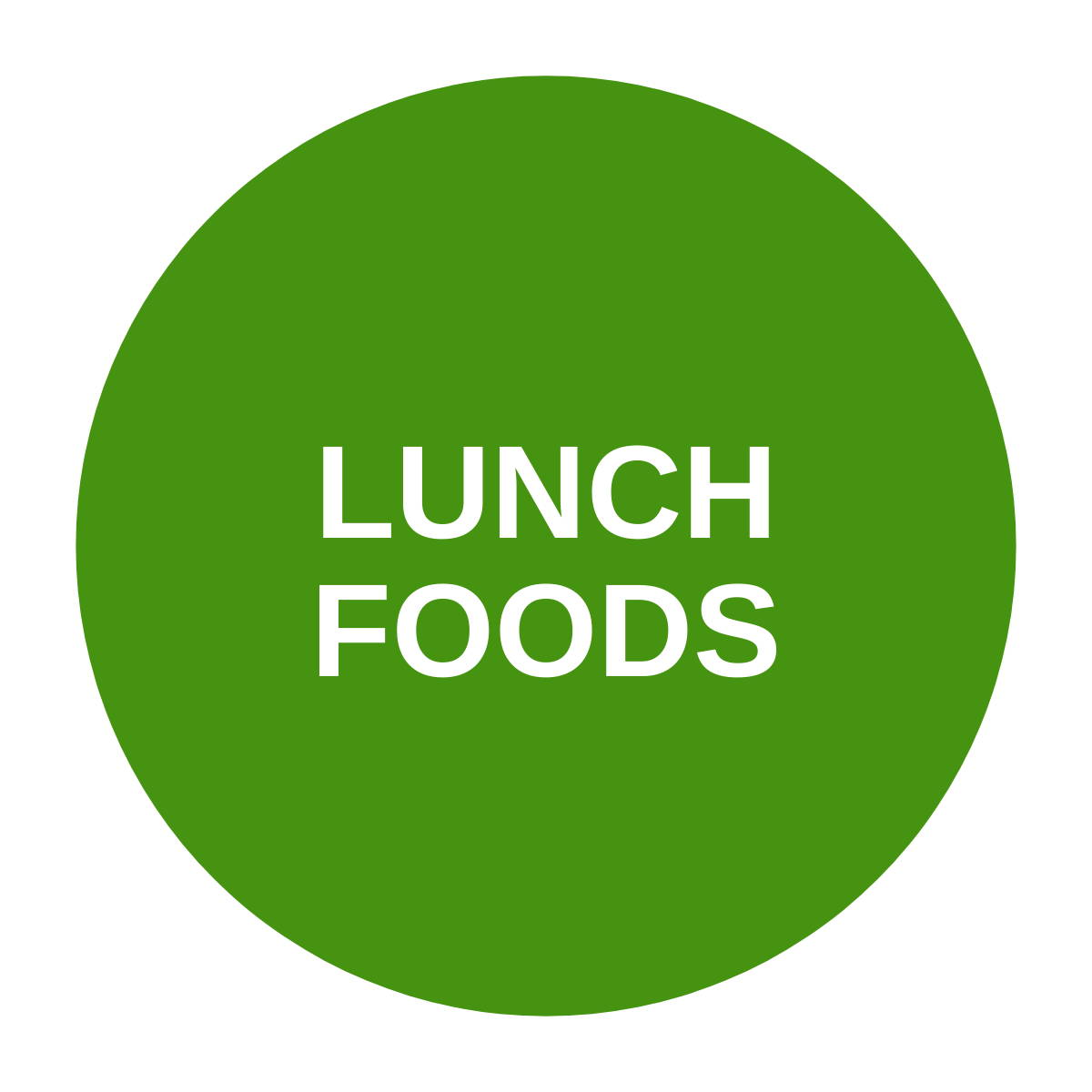 Green lunch foods icon