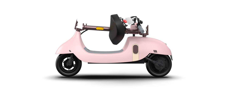 okai ea10 foldable escooter pink