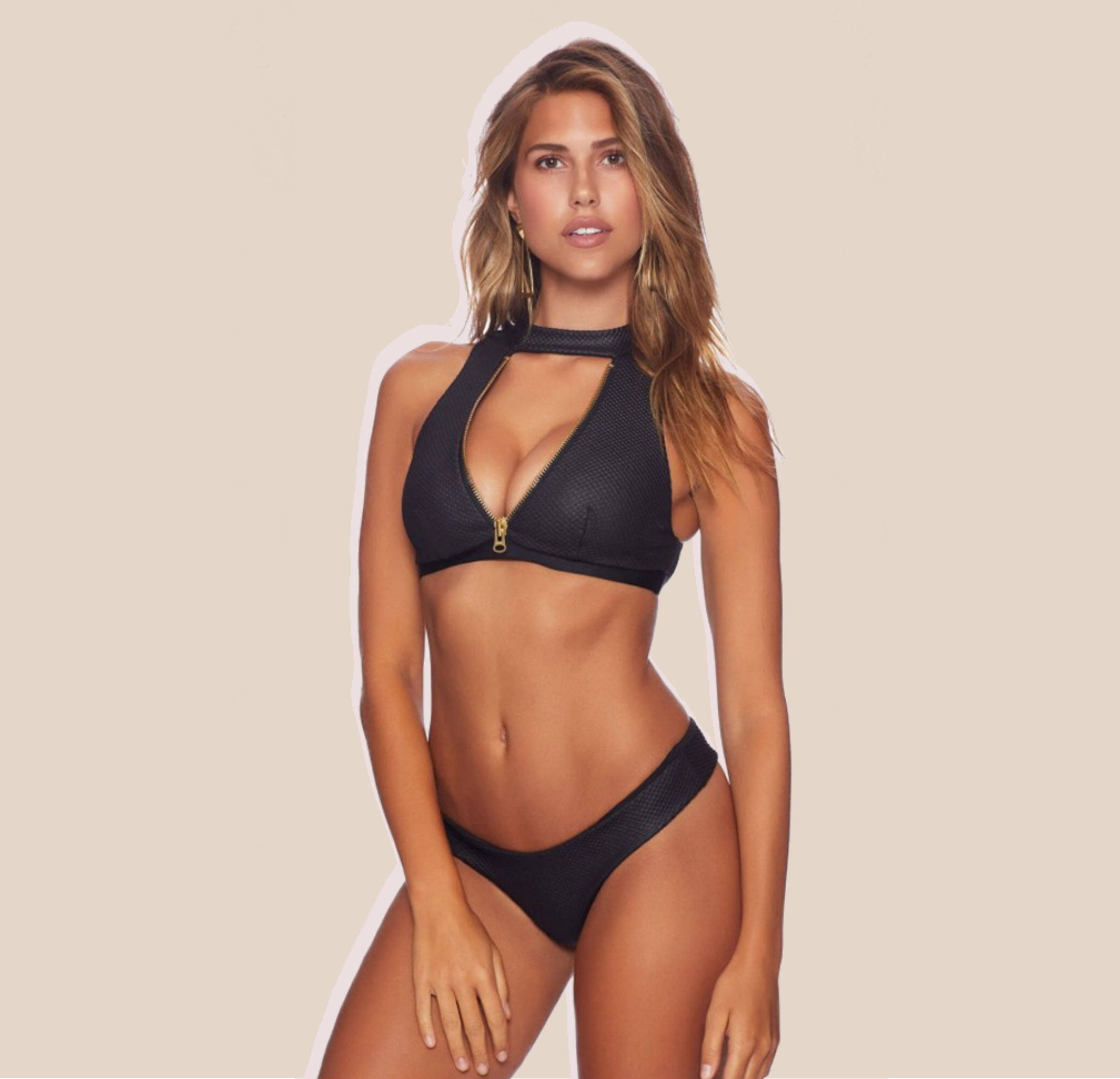 Beach Bunny Zoey High Neck Bikini Top + Bottom
