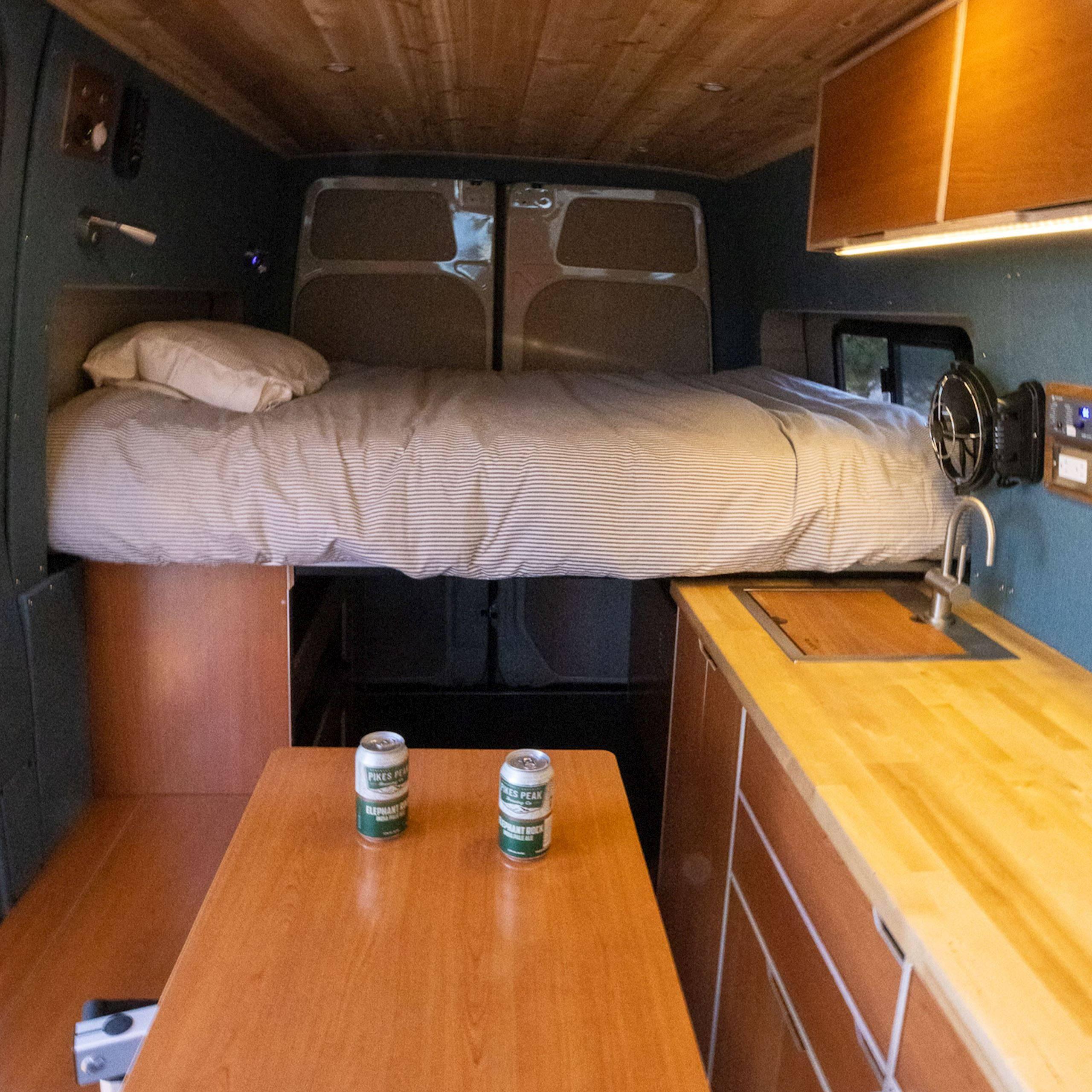 Rack & Roll - Sprinter 144 Conversion Van Interior - The Vansmith in Colorado