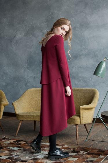 Платье 2х-слойное RED WINE