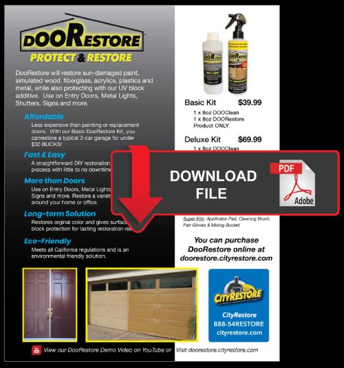 DooRestore Protect & Restore Garage, Entry Doors and More