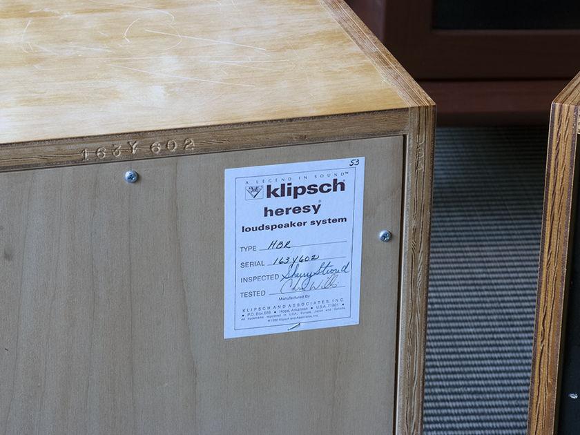 Klipsch Heresy HBR Classic Floorstanding Speaker.