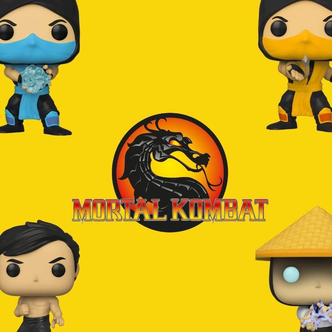Bobble head, funko, mortal-kombat, NetherRealm Studios, Scorpion, Video games, raiden, Scorpion, Lui Kang
