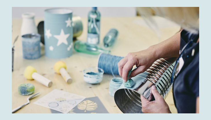 bester geburtstagde kreativ huhn huhn upcycling dose tupfen blau