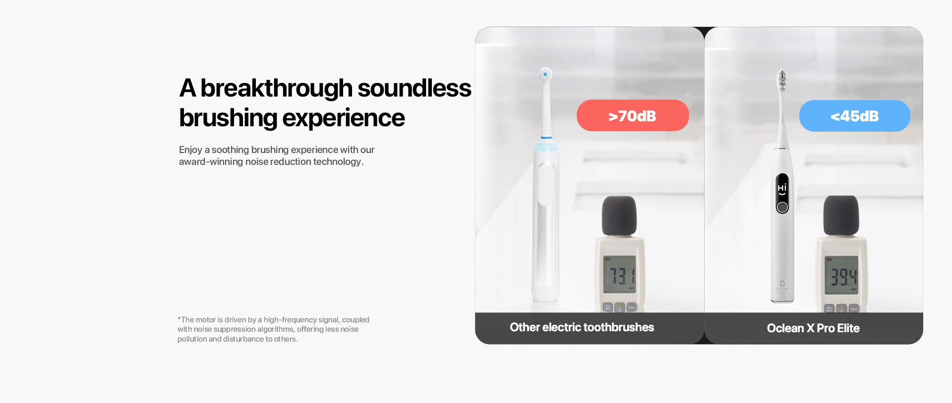 a breakthrough soundless brushing experience