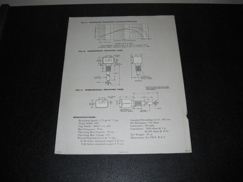 SHURE MICRO-GAP TR30/TR35 RECORDING HEAD - -AD SLICK-  FAST SHIPPING