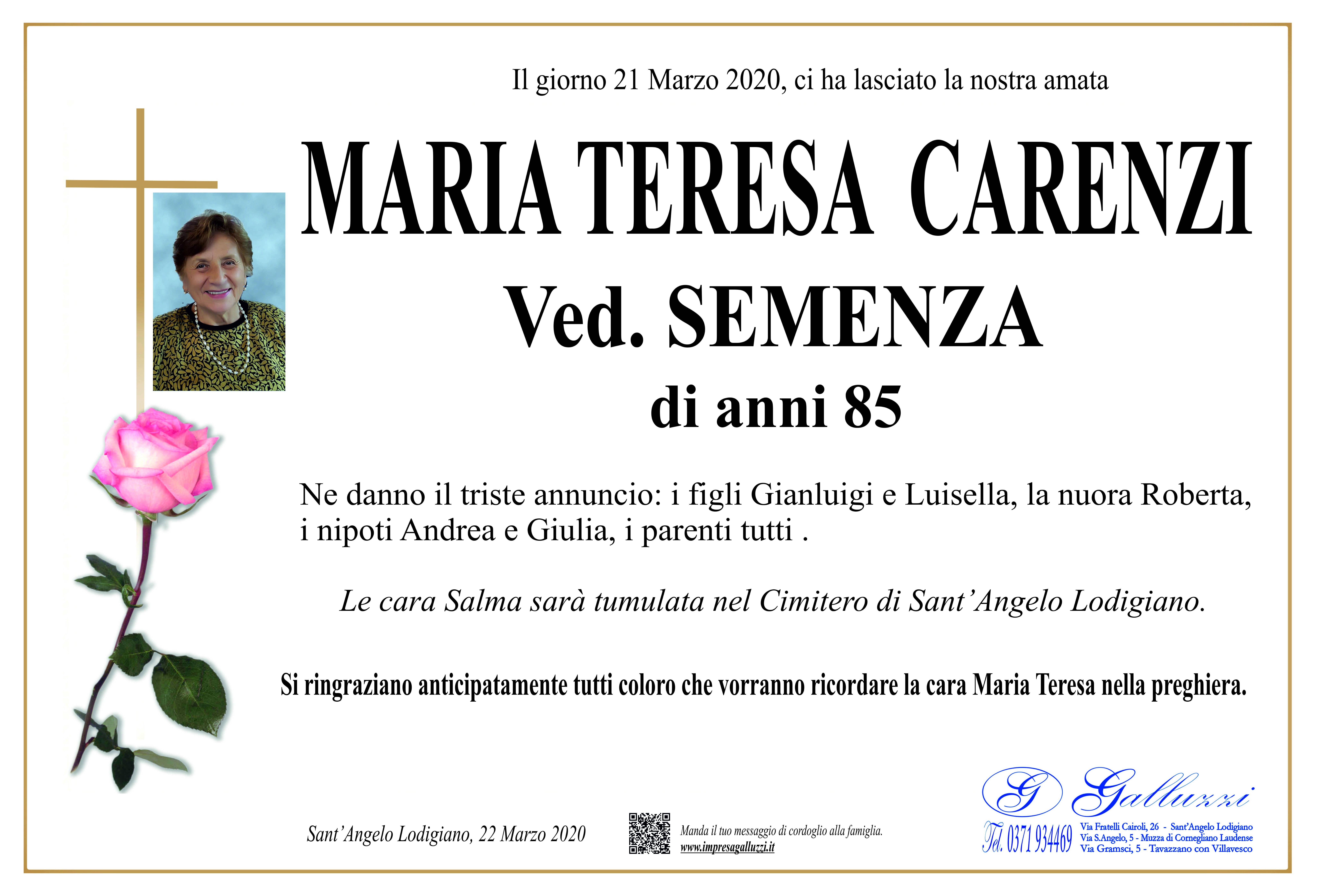 Maria Teresa Carenzi