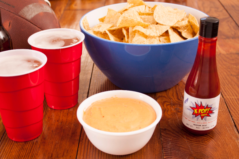 Try our Beer Cheese Dip with KPOP Sauce, perfect for any tailgate