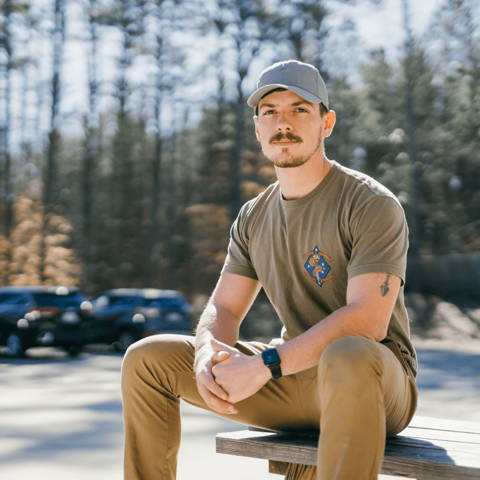 Max Folger, in charge of roastery operations at alma coffee