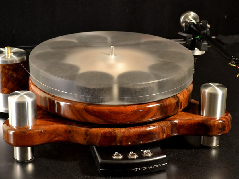 """George Warren Hardwood Turntable """"Stereo Times Most Wanted Component"""""""