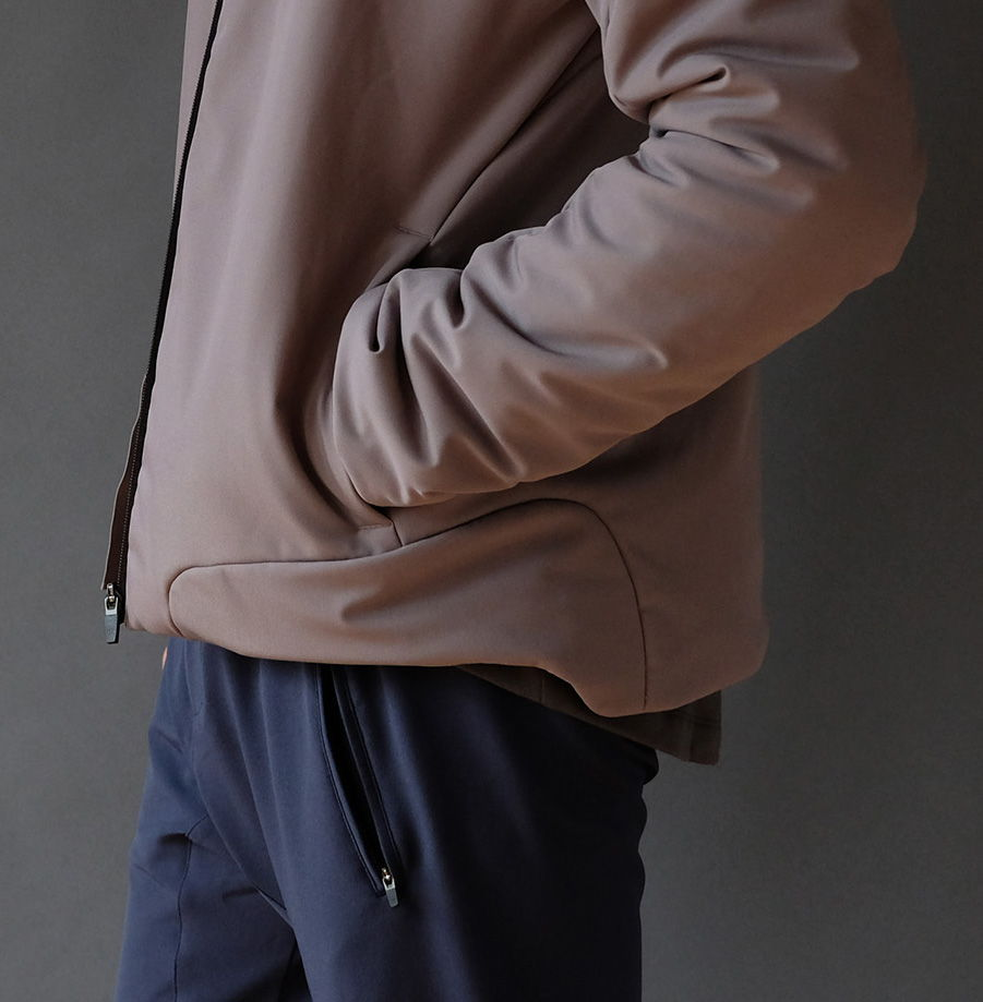 ENCOUNTER - MODERN ELEGANCE MEETS FUNCTION SHELL BOMBER JACKET SHADOW GRAY