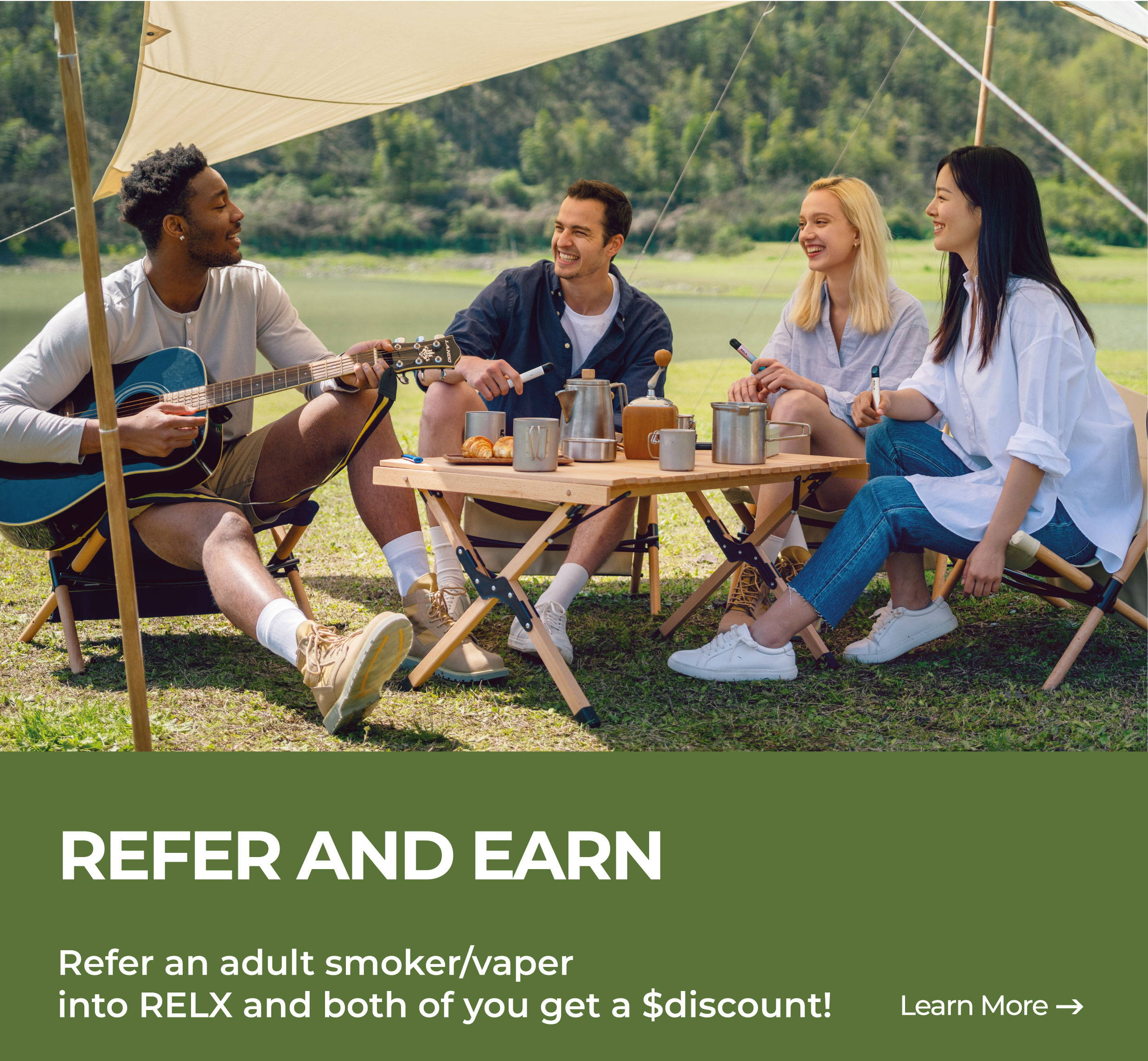 Refer and adult smoker/vaper into RELX and both of you get rewarded.