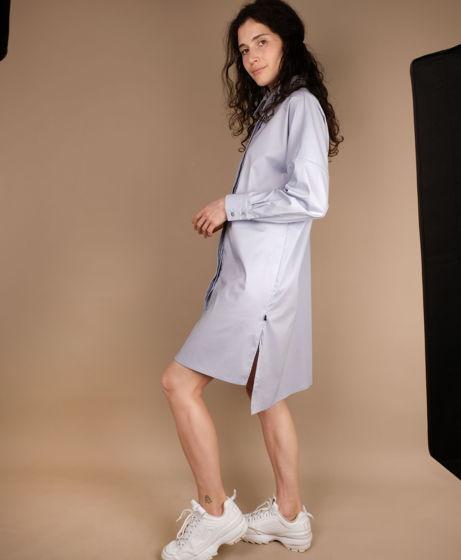 Рубашка-платье в стиле оверсайз