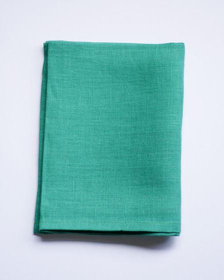 Льняное полотенце - Бирюзовый