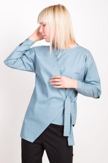 Асимметричная рубаха цвета маренго
