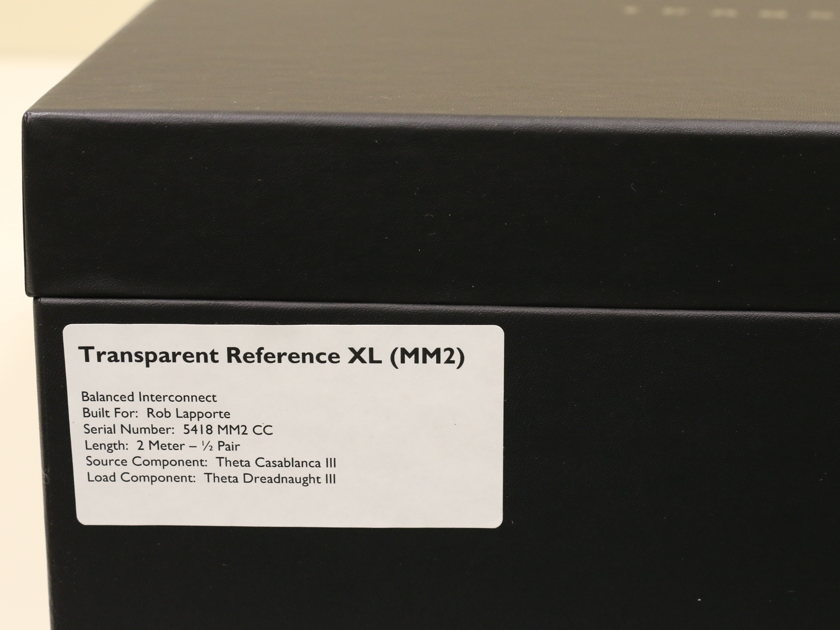 Transparent Audio Reference XL  2m Balanced Interconnect