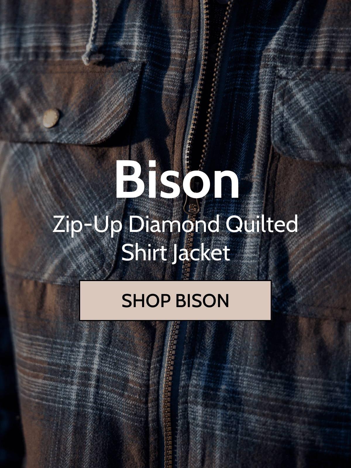 Canyon guide bison shirt jacket