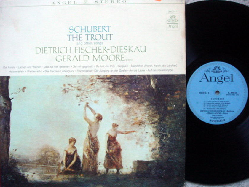 EMI Angel Blue / FISCHER-DIESKAU, - Schubert The Trout and Other Songs,  VG+!