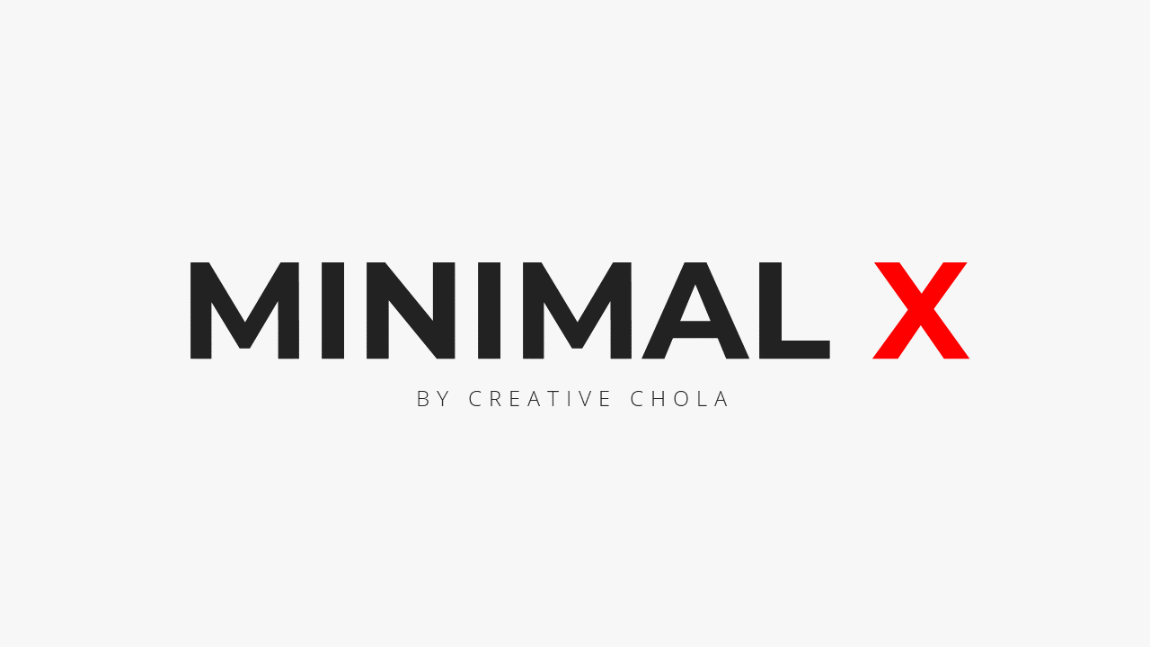 Minimal X Presentation Template Business Plan Title Page