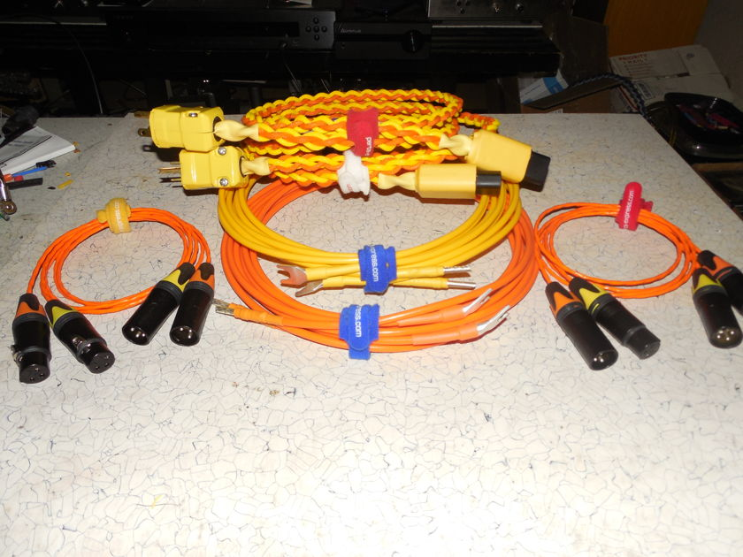 Complete Silver Cable Set: Silver/Teflon Speaker/Power/IC