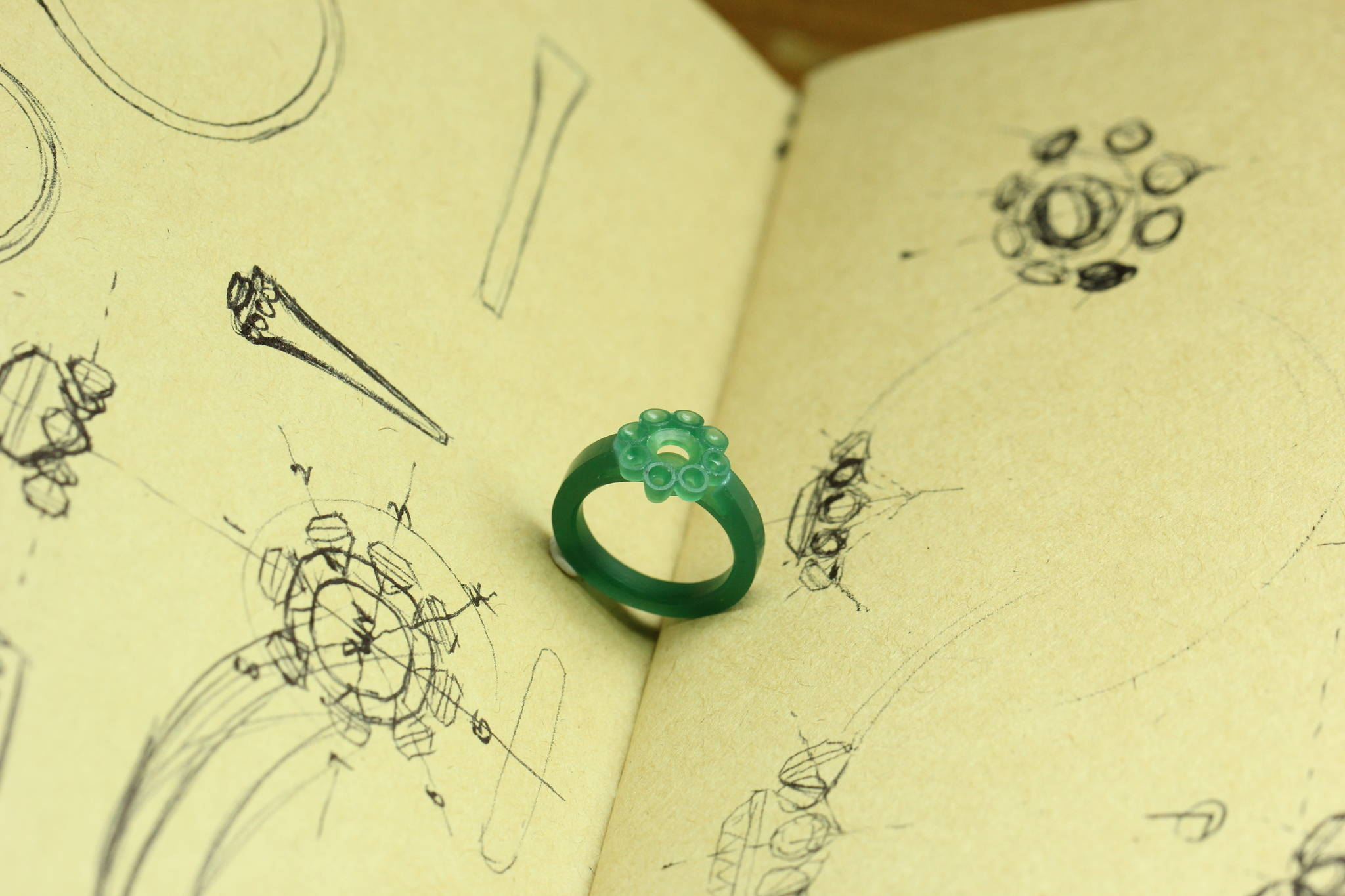 Jewelry Ring design stage yves lemay jewelry