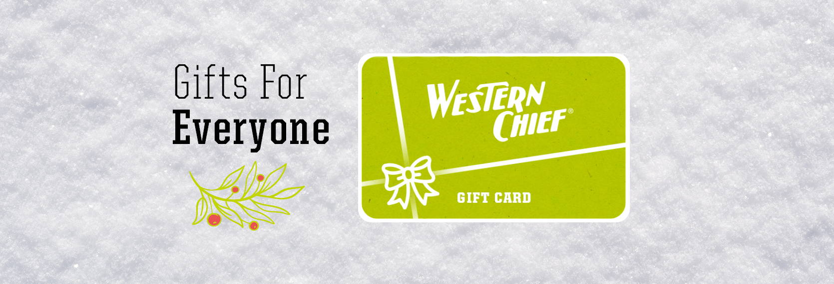 Shop the best holiday gift - a gift card! $25, $50, and $100 gift cards available.