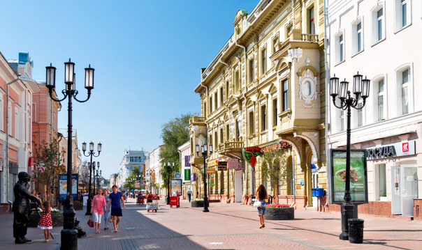 Экскурсия по Нижнему Новгороду - ул.Рождественская