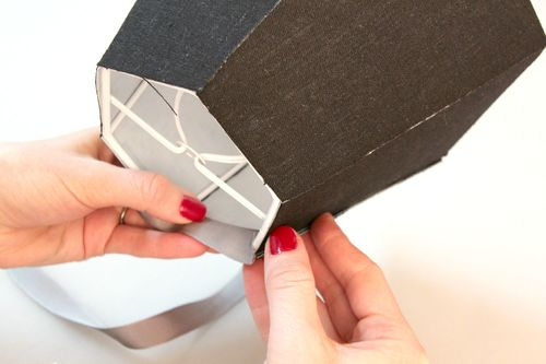 DIY Lampshade Using Adhesive Styrene Sheets - Check out more great DIY lamp tutorials at http://www.ilikethatlamp.com !