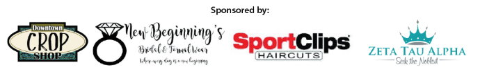 Project Prom Sponsors: Downtown Crop Shop, New Beinnings, SportClips Haircuts, Zeta Tau Alpha