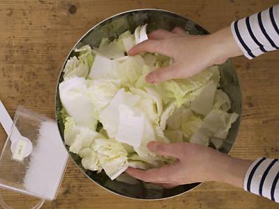 Soften napa cabbage