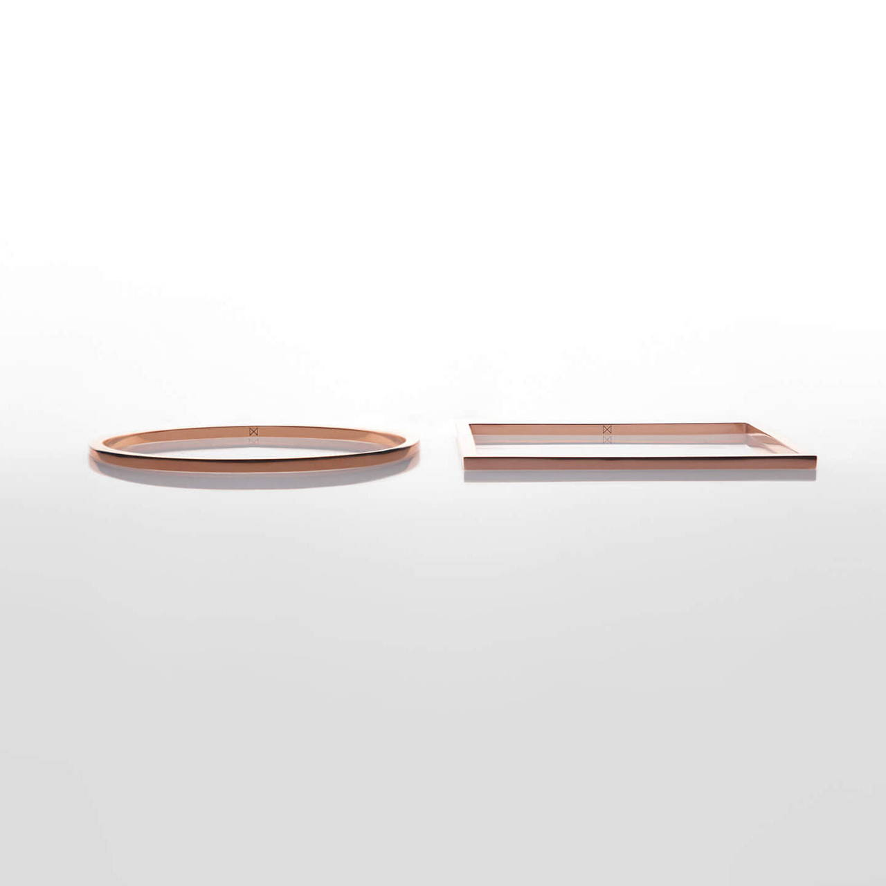 Copper Round and Square Bangles