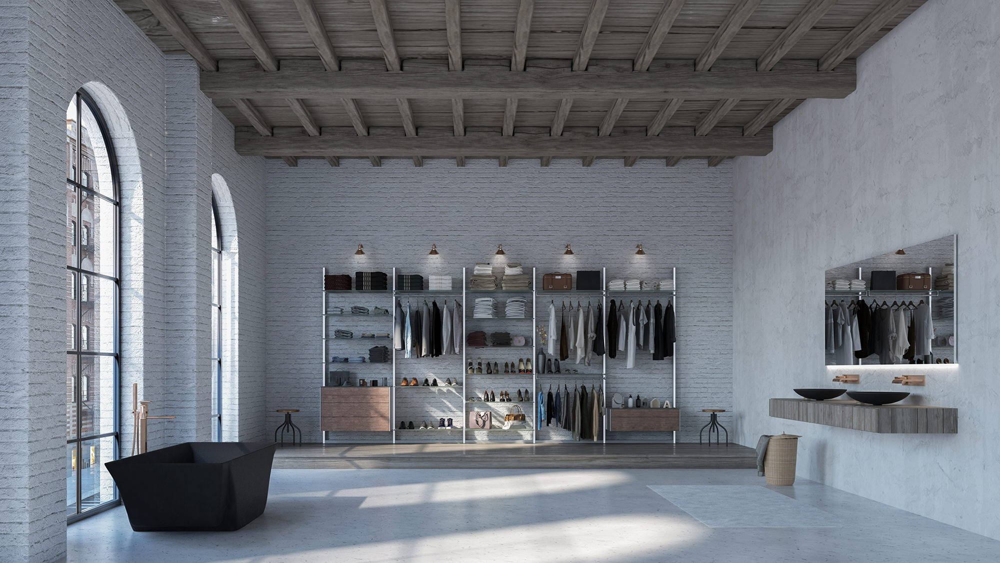 elegant walk-in closet system