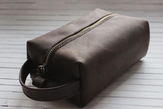 Dopp Kit small (несессер, косметичка унисекс) из натуральной кожи