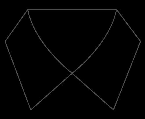 semi-spread-collar-long-point-icon