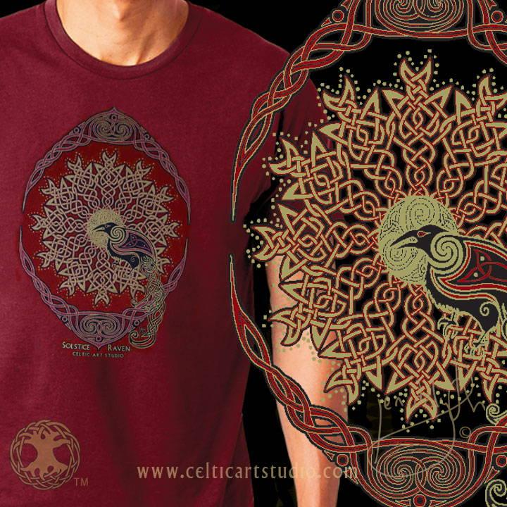 Celtic Art Studio Solstice Ravens Vintage Celt Shirt Celtic Festival Online Marketplace