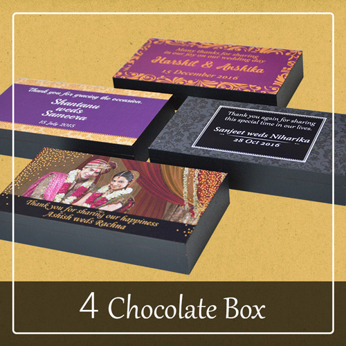 4 chocolate box for wedding favour