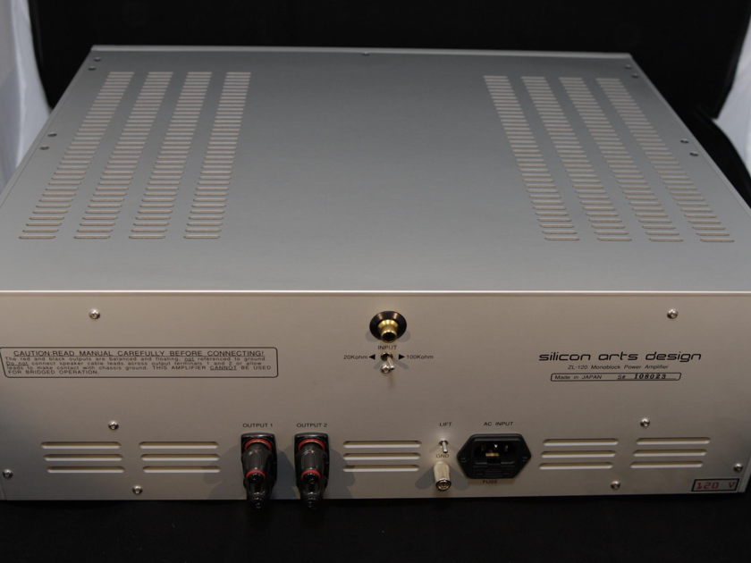 Silicon Arts ZL-120 Mono Amps Georgous Sounding-Concert Fidelity