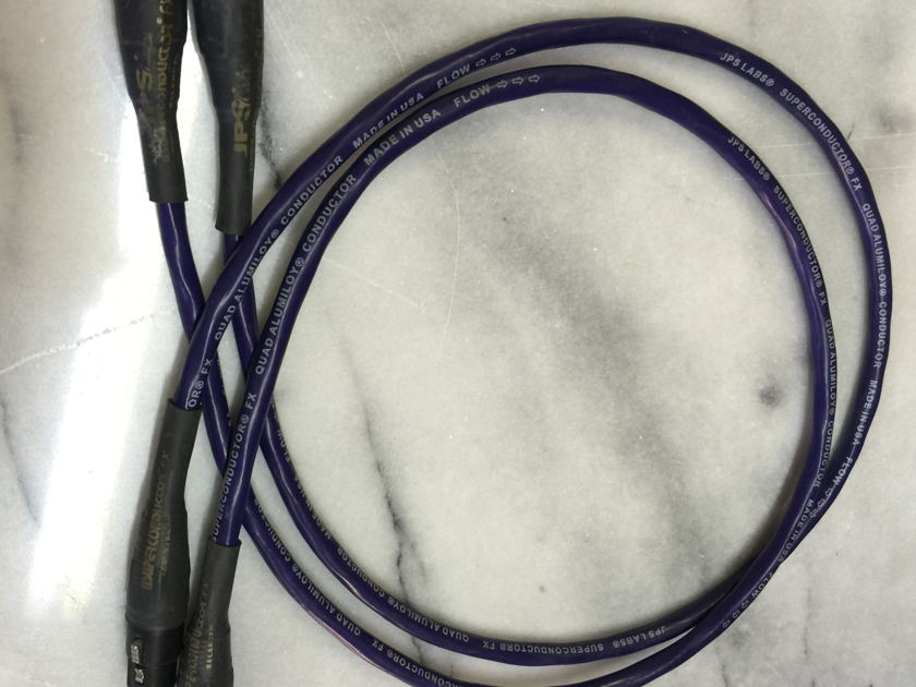 JPS Labs Superconductor FX 1 Meter XLR Interconnects - SWEET!