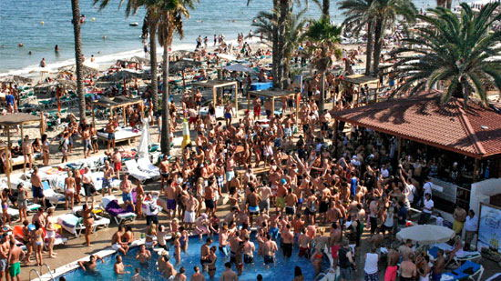 Bora Bora Ibiza Beach club, playa d'en bossa