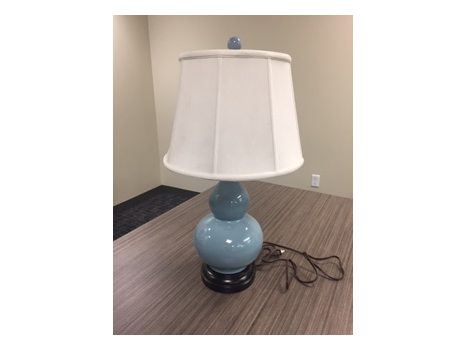 Teal Blue Pottery Lamp