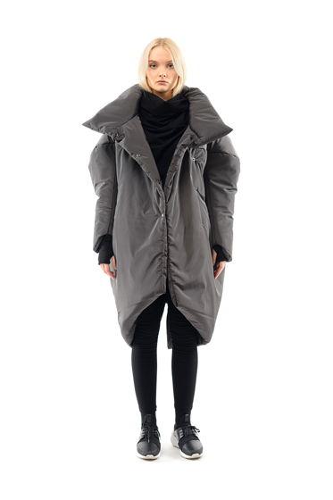 Пальто R.B. серое