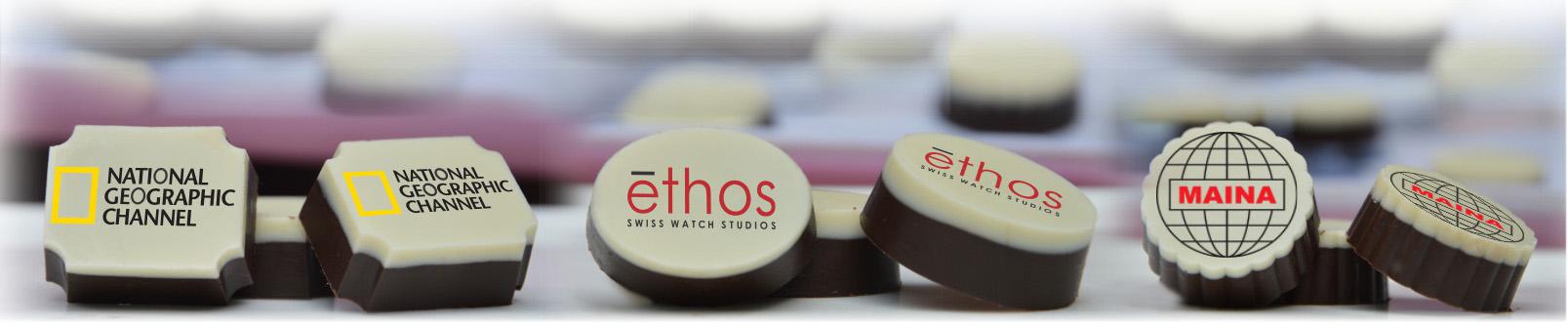 logo printed chocolates