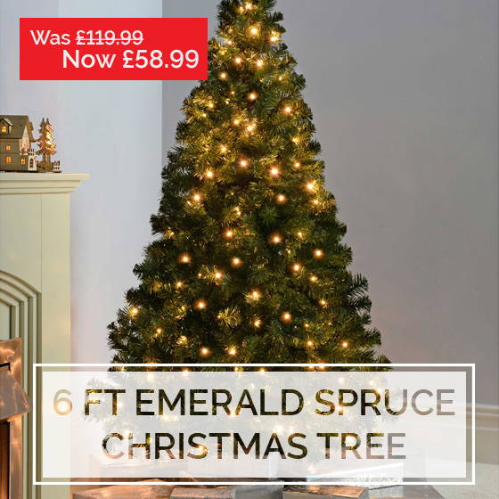 emerald spruce christmas tree black friday home decorations