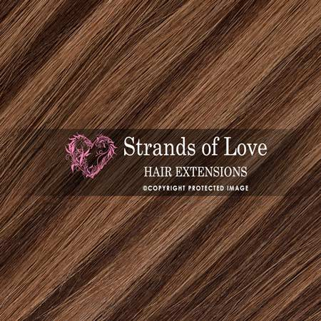 Strands Of Love Hair Extensions Colour Chocolate Cinnamon Highlight