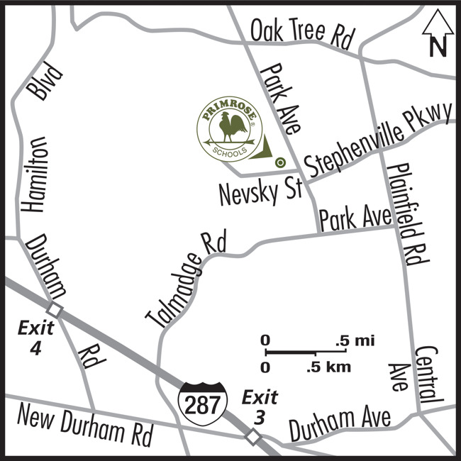 Map of Primrose School of North Edison