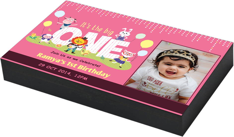 Birthday Invitation Gift Box Designs CHOCOCRAFT