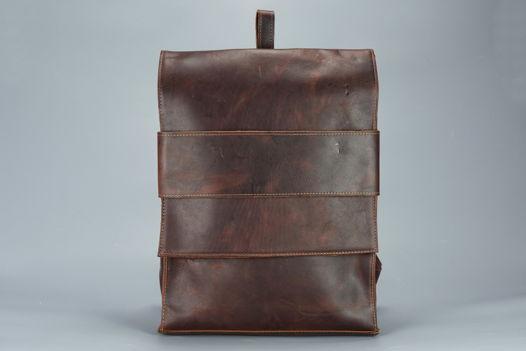 """Бордовый кожаный рюкзак """"Mi Minimal Dark Bordo"""""""