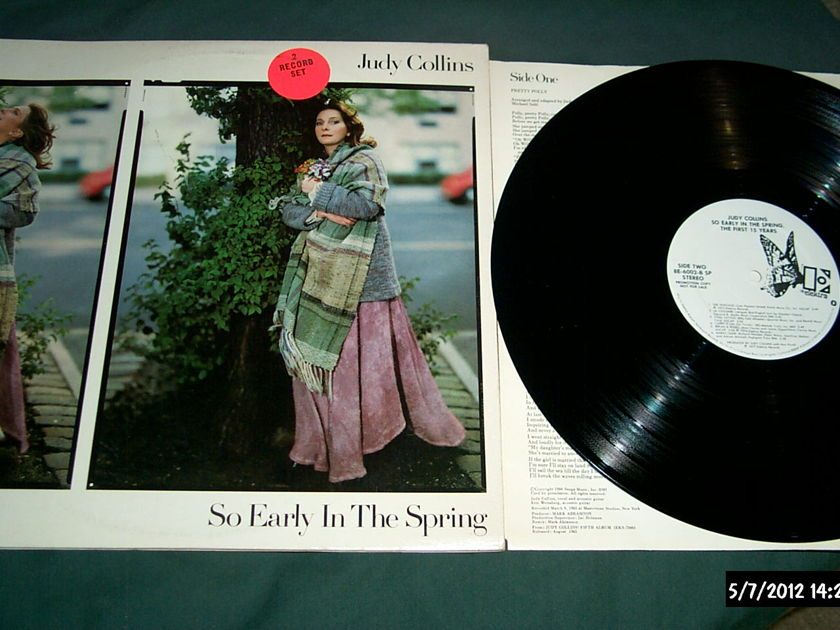 Judy Collins - So Early In The Spring 2 LP White Label Promo Elektra Label